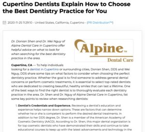 Cupertino Dentists Give Tips on Choosing the Best Dentistry Practice